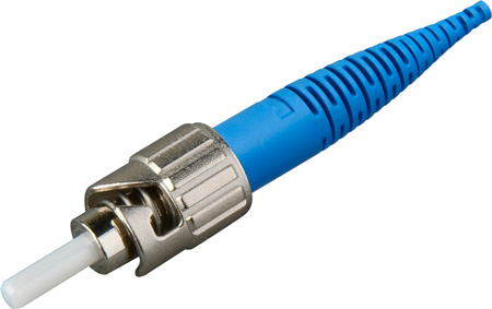 Senko 215-103-J1 Premium 125um SingleMode ST Fiber Connector with Blue 900u Boot