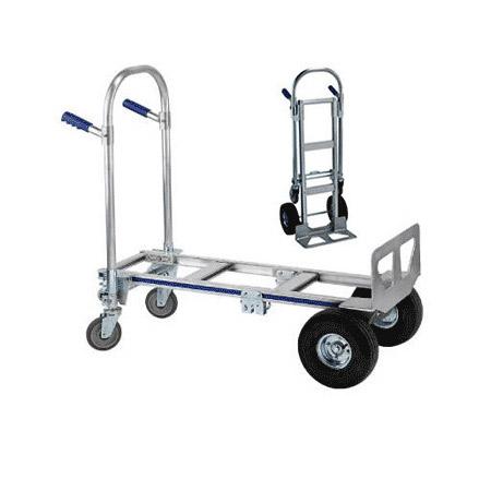 Wesco 220293 Cobra Junior Convertible Production Cart & Hand Truck (Pneumatic)
