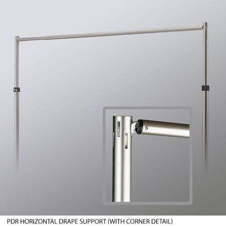 Draper 223008 PDR Horizontal Drape Support-Aluminum 7 - 12ft