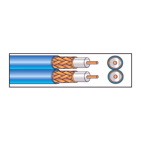 West Penn Wire 252825 Plenum S-VHS Cable Per ft