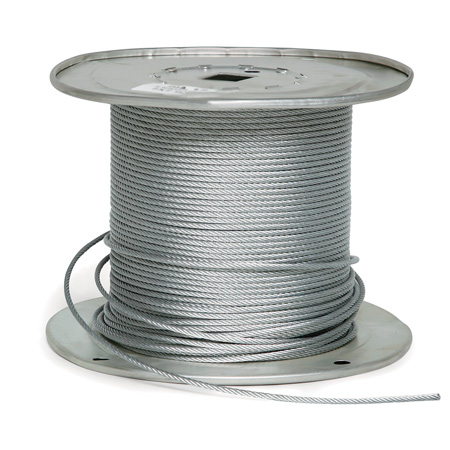1/16 Diameter x 250 Foot 7x7 Galvanized Aircraft Cable