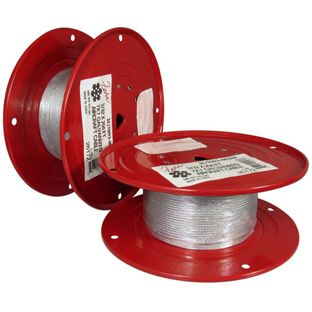 1/8 Diameter x 250 Foot 7x19 Galvanized Aircraft Cable