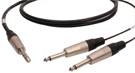 Audiophile Single Pair 1/4-TS Insert Return/Send Cables 25 Foot