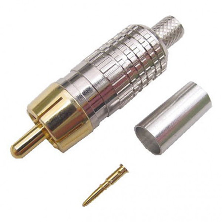 Crimp Style RCA Connector for RG6 Coax