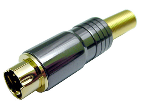 Calrad 30-505 Pro S-Video Din 4 Pin  Connector for 5-7mm Cable