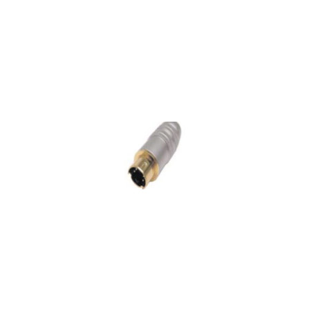Calrad 30-611 - SVHS Male 4-Pin Connector for 8mm Cable with Silver Barrel