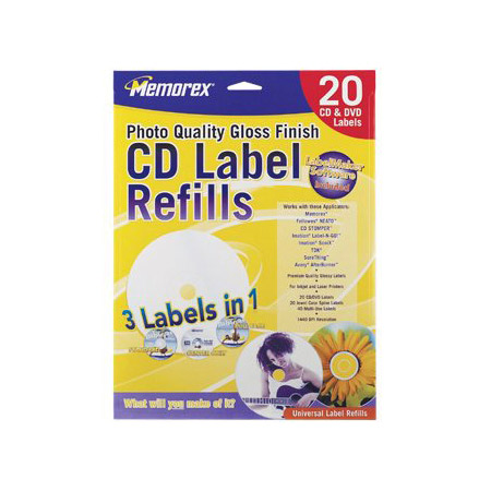 LabelMaker Gloss White Refills White 20 Pack