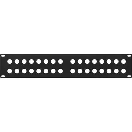 16 Hole Punched BNC Panel Black .060 Flanged