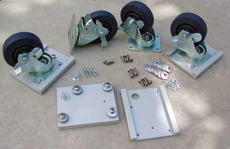 SKB Caster plate and wheel kit for Industrial Cases