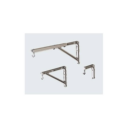 Da-Lite 40957 11 Inch Projection Screen Wall Brackets 10in or 14in White Pair