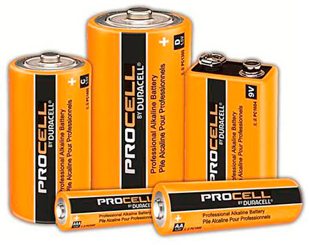 Duracell PC1500 ProCell Heavy Duty AA Batteries - 4 Pack