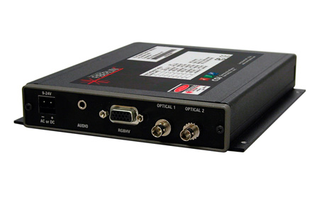 Artel FiberLink 7250 Series SM or MM Hi-Res RGB Tx/Rx Kit with Stereo Audio Over 2 ST Fibers