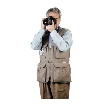 PhoTOGS Photography Vest: Small Khaki