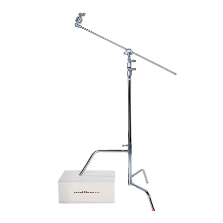 40in C-Plus Stand w/Turtle Base Includes Grip Head and Arm - Black