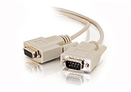 Middle Atlantic DB-9 Serial Male - Female Molded Cable 6ft Beige