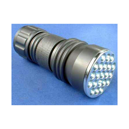 High Intensity 21 LED 3 AAA Machined Aluminum Flashlight - Silver