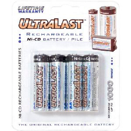 700mAh AA 4-Pack Rechargeable Batteries