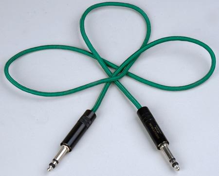 Audio Accessories 623D Maxi (Bantam/TT) Woven Patch Cord Green