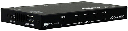 AVPro Edge AC-DA14-AUHD 1x4 HDMI Distribution Amplifier