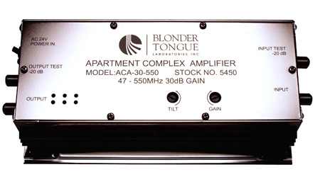 Blonder Tongue ACA-30-55R Apartment Complex Amplifier 30 dB 47-550 MHz Passive Return Single Hybrid