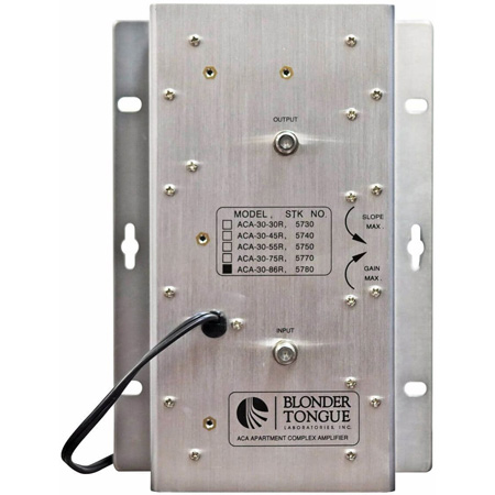 Blonder Tongue ACA-30-86R Apartment Complex Amplifier 30 dB 47-860 MHz Passive Return Dual Hybrid