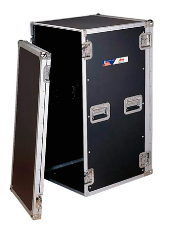 10 Space Rack Case 21 in Deep without Casters