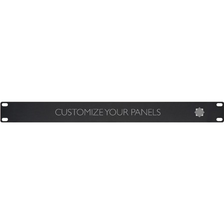TecNec ADPAN-1 1RU Custom Engraved Logo Rack Panel
