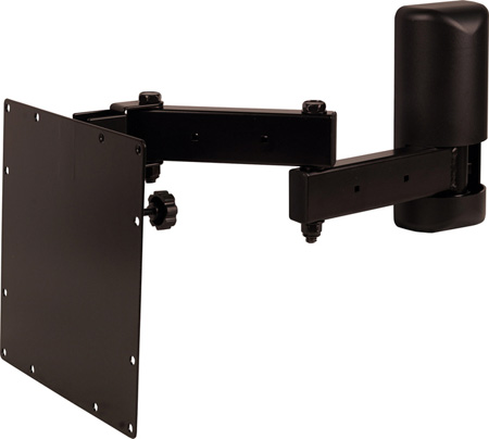 Wall Mount LCD Flat Panel Monitor Mount With VESA Plate - Black