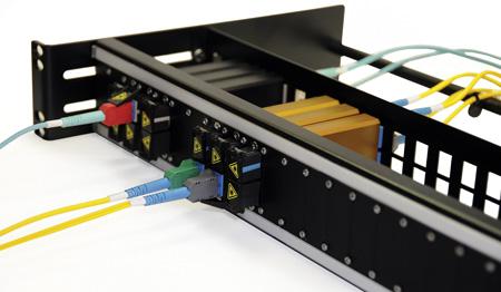 Advanced Fiber NTOSPNL2 Open Fiber Patch Panel for up to 24 NTOS Jacks - 2RU