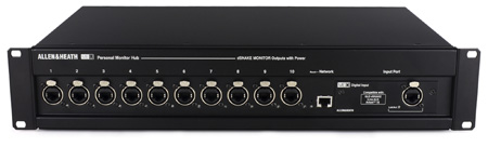 Allen & Heath ME-U 10 Port Power Over Ethernet Hub with Built-In HTML Browser