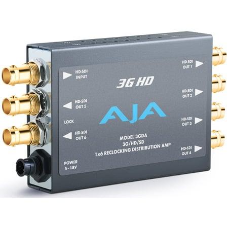 AJA 3GDA 1x6 3G/HD/SD Reclocking Distribution Amplifier