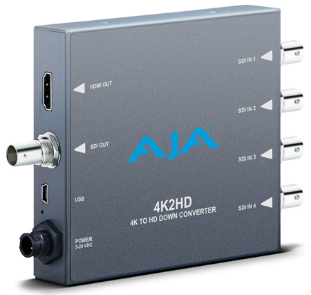 AJA 4K2HD 4K Ultra HD to HD-SDI and HDMI Downconverter