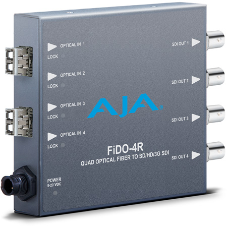 AJA FiDO-4R 4-Channel LC Optical Fiber to 3G-SDI