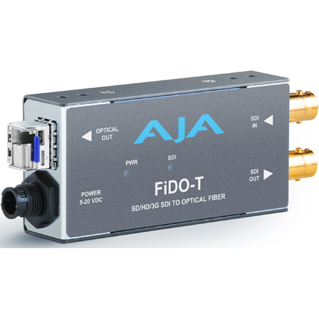 AJA FiDO-T Single Channel SDI to Fiber Converter w/Looping SDI Output