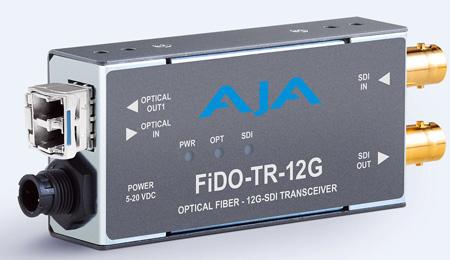 AJA FiDO-TR-12G 1-Channel 12G-SDI/LC Single-Mode LC Fiber Transceiver