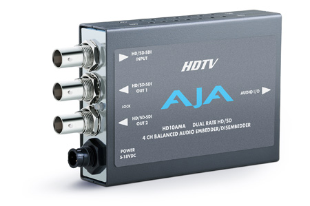 AJA HD10AMA HD/SD 4-Channel Analog Embedder Disembedder