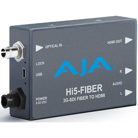 AJA Hi5-Fiber 3G-SDI Over Fiber to HDMI Videoand Audio Converter