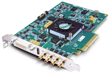 AJA KONA 4 8-Lane PCIe 2.0 Video and Audio Desktop I/O Card
