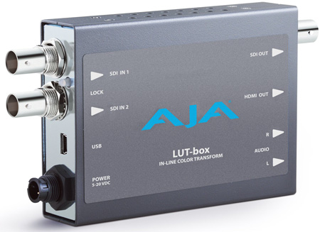 AJA LUT-box In-line Color Transform