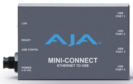 AJA Mini-Connect Control AJA Mini-Converters via Ethernet