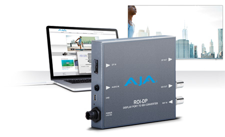 AJA ROI-DP Display Port to SDI Converter with Region Of Interest Scaling