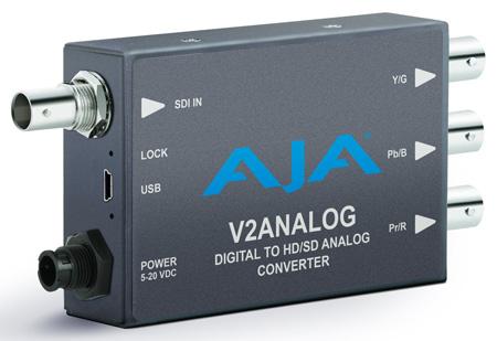 AJA V2Analog HD/SD-SDI to Component/Composite Analog Mini-Converter