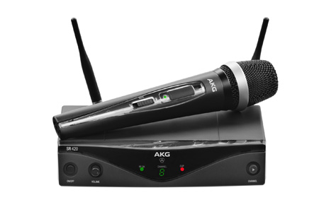 AKG WMS420 Professional Wireless Micophone System Vocal Set - Band U2