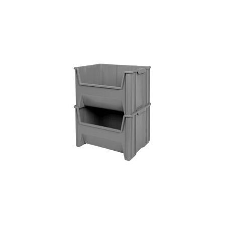 Akro-Mils 13018 17.5x16.5x12.5 Inch Stak-N-Store Bin (Gray)