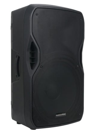 AMDJ American Audio ELS-GO 15BT 15 Inch 2-way Battery /AC Powered Portable Speaker with Mic/Line USB/SD&Bluetooth Inputs