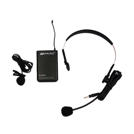 Amplivox S1693 Wireless 16 Channel UHF Lapel & Headset Mic Replacement Kit