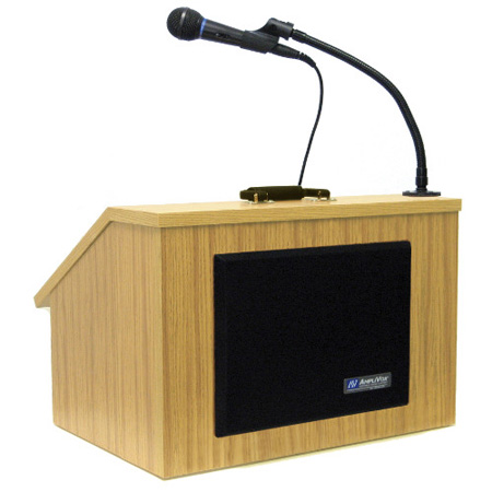 Amplivox S272 EZ Speak Folding Lectern with sound system Med. Oak