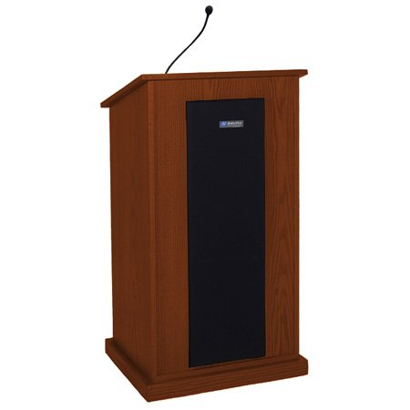 AmpliVox S470-CH Chancellor Lectern - Wired Sound - Cherry