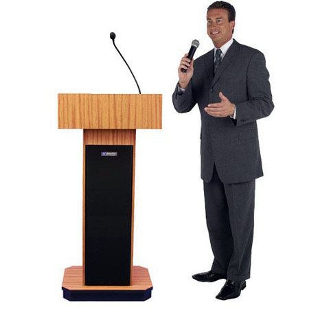 Amplivox S505OK Executive Sound Column Lectern - Oak