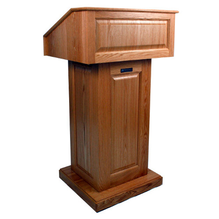 Amplivox SN3020WT Victoria Lectern - Without Sound - Walnut